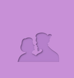 papercut age difference couple in love isolated vector image