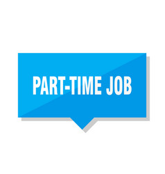 part-time job price tag vector image