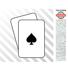 peaks suit cards with bonus vector image