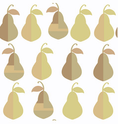 pear abstract fruits seamless pattern it is vector image