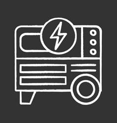 portable power generator chalk icon vector image
