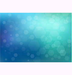 pure blue mesh background hexagon blurred shine vector image
