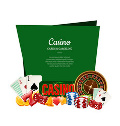 realistic casino gamble with place for text vector image