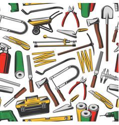 Repair tools seamless pattern work instruments vector