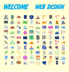 set line icons in flat design with elements for vector image