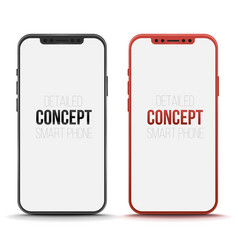 set of conceptual smart phone mock up vector image