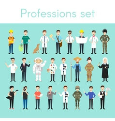 set of different colorful man professions Cartoon vector image