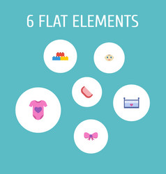 Set of infant icons flat style symbols with baby vector