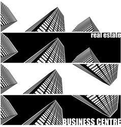 skyscrapers and real estate vector image