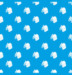 Smithy pattern seamless blue vector