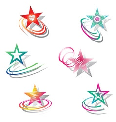 star design elements set vector image
