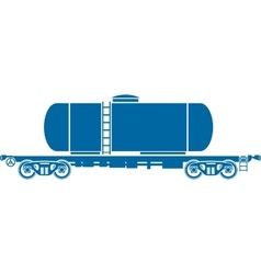 Tank Railway freight car vector image