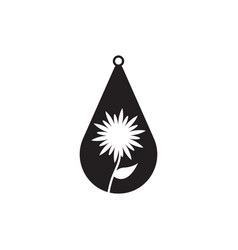 teardrop earring icon design template isolated vector image