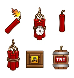 Tnt and dynamite set vector