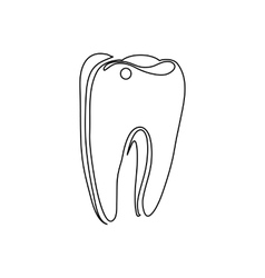Tooth icon outline style vector image