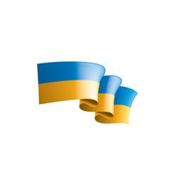 ukraine flag on a white vector image