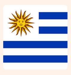 Uruguay square flag button social media vector
