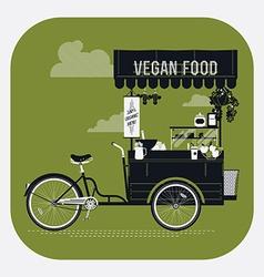 Vegan Food Cart vector image