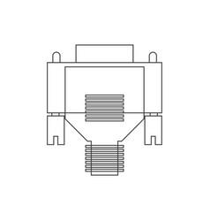 vga cable vector image