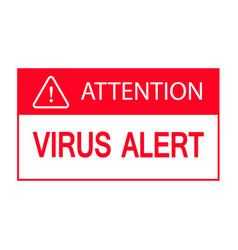 Virus attention symbol isolated on white vector