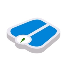 Weight scale icon isometric 3d style vector image
