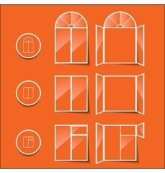 windows icon isolated on a orange background vector image
