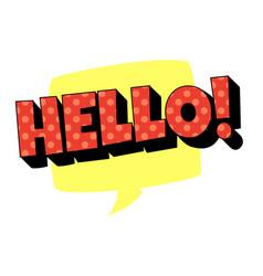 Word text yellow hello image vector