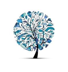 Art tree winter season concept for your design vector image vector image