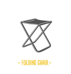 folding chair vector image