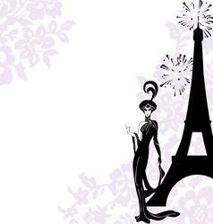 Frame fashion beauty Paris vector image vector image