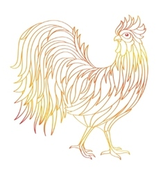 Hand drawn doodle outline rooster vector