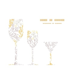 magical floral three wine glasses vector image vector image