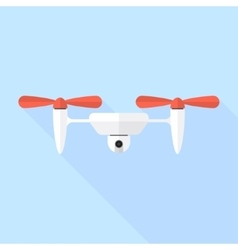 Quadcopter drone with camera vector image