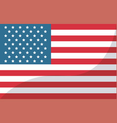 usa flag united states of america symbol vector image