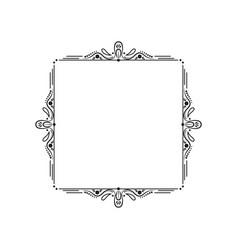 black vintage elegant frame with monograms vector image