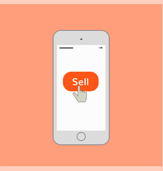 mobile phone with sell button vector image