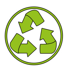 recycle icon image vector image