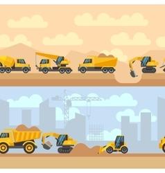 Seamless horizontal construction vector image