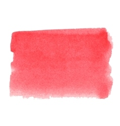 Water-colour red background for presentation vector image vector image