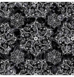 Black seamless mandala vector image vector image