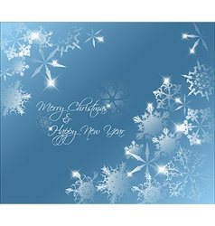 blue abstract Christmas background vector image vector image