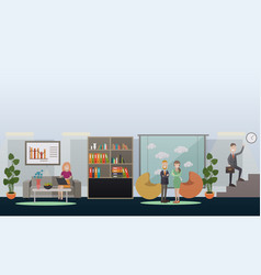 business people in office concept flat vector image vector image