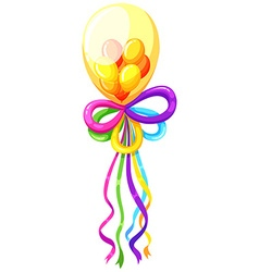 Fancy balloons in many colors vector image vector image