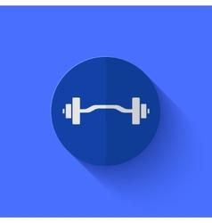 modern flat blue circle icon vector image vector image