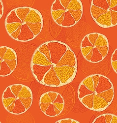 seamless pattern with oranges - vector image vector image