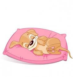 sleeping puppy vector image vector image