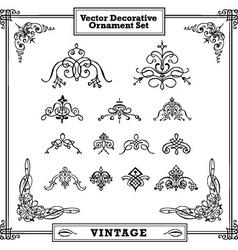 vector vintage decorative ornament set vector image vector image