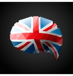 British Flag speech bubble background vector image vector image