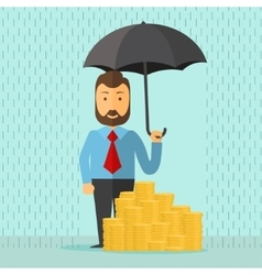 businessman with umbrella vector image