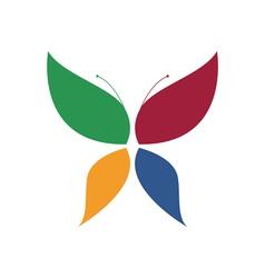 Butterfly logo vector